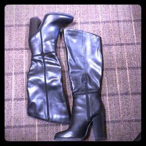 Black Vegan Leather Boots